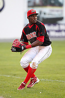 Batavia Muckdogs outfielder Rainel Rosario (30) during a game vs. the Jamestown Jammers at Dwyer Stadium in Batavia, New York July 17, 2010.   Jamestown defeated Batavia 5-2.  Photo By Mike Janes/Four Seam Images