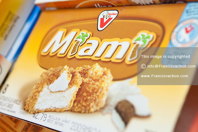 Miami Vachon cake are seen on display in a convenient store in Quebec City February 26, 2009