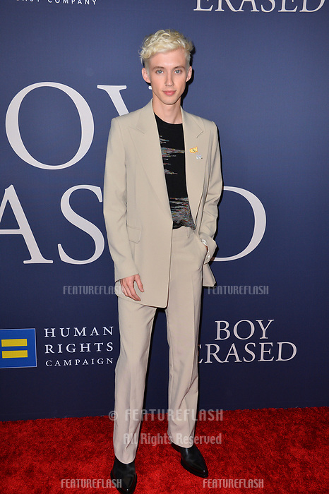 LOS ANGELES, CA. October 29, 2018: Troye Sivan at the Los Angeles premiere for &quot;Boy Erased&quot; at the Directors Guild of America.<br /> Picture: Paul Smith/Featureflash
