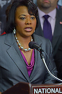 June 24, 2013  (Washington, DC) Bernice King speaks during a news conference announcing the 50th anniversary March on Washington, June 25, 2013 at the National Press Club. The march, scheduled for August 24, 2013, commemorates the 1963 march led by Dr. Martin Luther King Jr.  (Photo by Don Baxter/Media Images International)