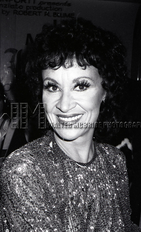 Chirta Rivera attends a Broadway show on June 11, 1980 in New York City.
