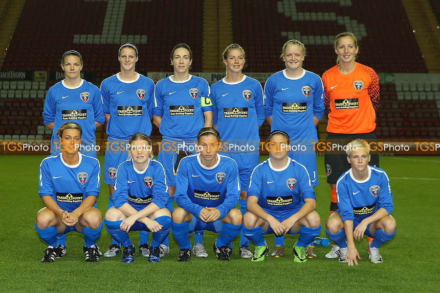 Bristol Academy players pose for a team photograph before kick-off - Bristol Academy vs Energiya Voronezh - UEFA Women's Champions League Round of 32 First Leg at Ashton Gate, Bristol City FC - 29/09/11 - MANDATORY CREDIT: Gavin Ellis/TGSPHOTO - Self billing applies where appropriate - 0845 094 6026 - contact@tgsphoto.co.uk - NO UNPAID USE.