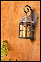 Lamp on adobe wall - Arizona
