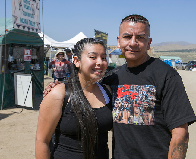 Viviana and Carlos during the Numaga Indian Days Pow Wow in Hungry Valley on Saturday, Sept. 1, 2018.