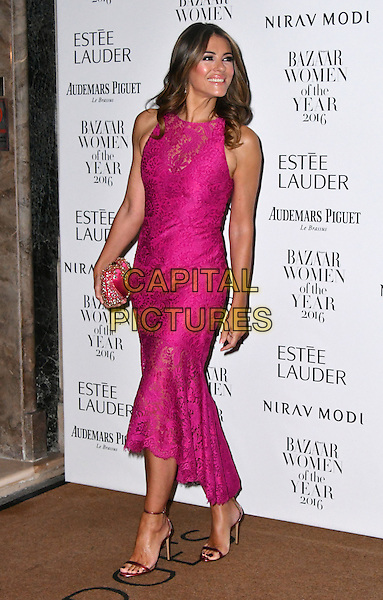 LONDON, ENGLAND - OCT 31: Elizabeth Hurley at Harper's Bazaar annual Women of the Year Awards, which celebrates female high-fliers, at Claridge's on October 31st, 2016 in London, England.<br /> CAP/JOR<br /> &copy;JOR/Capital Pictures