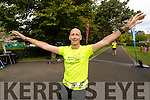 Mike Kissane pictured at the finish of the 24 hour run held in Tralee Town Park on Sunday afternoon last.