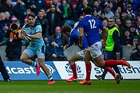 8th March 2020; Murrayfield Stadium, Edinburgh, Scotland; International Six Nations Rugby, Scotland versus France; Sean Maitland of Scotland runs in a try
