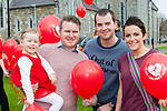 enjoying the launching of red balloons in aid of Glow Heart for Crumlin at St Mary's Cathedral on Saturday were l-r: Keelin Walsh, Joe Burchill, Tom Ahern and Sandra Walsh Tralee