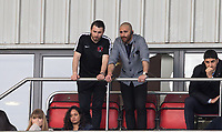 Leyton Orient Omer Riza takes charge as Manager for the first time (Orient's 5th of the Season) looks downbeat as he watches from the stands after being sent off at half time during the Sky Bet League 2 match between Leyton Orient and Wycombe Wanderers at the Matchroom Stadium, London, England on 1 April 2017. Photo by Andy Rowland.
