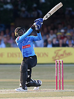Jofra Archer in batting action for Sussex during Essex Eagles vs Sussex Sharks, Vitality Blast T20 Cricket at The Cloudfm County Ground on 4th July 2018
