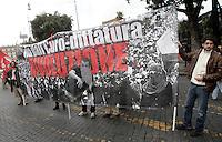 """Manifestazione """"No Monti Day"""" contro le politiche economiche e sociali del governo, a Roma, 27 ottobre 2012..""""No Monti Day"""" demonstration against government's  financial cuts, in Rome, 27 October 2012..UPDATE IMAGES PRESS/Riccardo De Luca"""