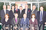 Kerry members of the Irish Hotel federation welcome Minister Martin Cullen to their conference in the malton Hotel Killarney on Monday front row l-r: Anne Carroll Kingfisher Lodge, Matthew Ryan IHF president, Minister Martin Cullen, Emer Moynihan Earls Court. Back row; Conor Fennigan Malton Hotel, Declan Walsh Ashville House, Padraig McGillicuddy Ballygarry House Hotel, Jim Finey Manor West Hotel, Pat Chawke Aghadoe Heights Hotel, Frank Slattery Caragh Lake, Danny Browne Castlerosse Hotel and Tom Randles Randles Court Hotel