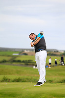 Thomas Fay (Rush) on the 14th tee during Round 3 of The South of Ireland in Lahinch Golf Club on Monday 28th July 2014.<br /> Picture:  Thos Caffrey / www.golffile.ie