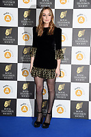 LONDON, UK. March 19, 2019: Jodie Comer arriving for the Royal Television Society Awards 2019 at the Grosvenor House Hotel, London.<br /> Picture: Steve Vas/Featureflash