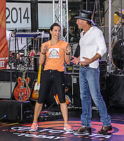 NEW YORK CITY, NY, USA - MAY 23: Jenna Wolfe, Tim McGraw performs on NBC's 'Today' at the Rockefeller Center on May 23, 2014 in New York City, New York, United States. (Photo by Jeffery Duran/Celebrity Monitor)