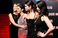 Selena Gomez, Vanessa Hudgens, Ashley Benson and Rachel Korine attends 'Spring Breakers' photocall premiere at Callao Cinema in Madrid, Spain. February 21, 2013. (ALTERPHOTOS/Caro Marin) /NortePhoto