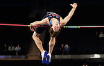 Jim Dilling jumps their men's high jump of the U.S open track & Field in the madison Square Garden in New York, United States. 28/01/2012. Photo by Kena Betancur / VIEWpress...
