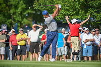 Jhonattan Vegas (VEN) watches his tee shot on 12 during 1st round of the 100th PGA Championship at Bellerive Country Cllub, St. Louis, Missouri. 8/9/2018.<br /> Picture: Golffile | Ken Murray<br /> <br /> All photo usage must carry mandatory copyright credit (© Golffile | Ken Murray)
