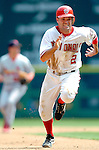 28 August 2005: Jamey Carroll, utility infielderfor the Washington Nationals, hustles to third in a game against the St. Louis Cardinals. The Cardinals defeated the Nationals 6-0 at RFK Stadium in Washington, DC. Mandatory Photo Credit: Ed Wolfstein.