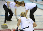 17/02/2014 - Womens curling - GBR v DEN - Ice Cube Curling centre - Olympic Park - Sochi - Russia
