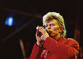 David Bowie - performing live on the Glass Spider Tour at Parc Departement de La Courneuve in Paris France - 03 Jul 1987. Photo Credit : Edouard Setton/Dalle/IconicPix  **UK ONLY**