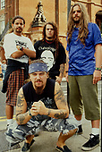 SEPULTURA - L-R: Paolo Jr, Igor Cavalera, Andreas Kisser, Max Cavalera in front - Photosession in London UK - 01 Sep 1993.  Photo credit: George Chin/IconicPix