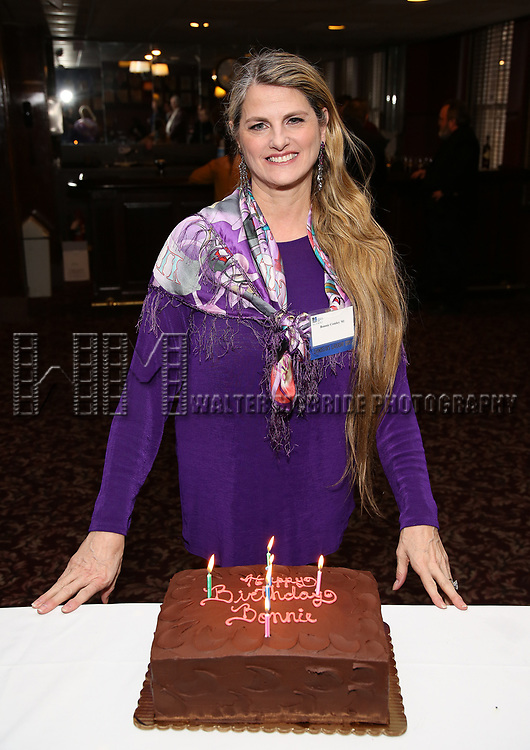 Bonnie Comley celebrates Birthday at the UMass Lowel Cockail Party for 'Sunset Boulevard' hosted by Chancellor Jacquie Moloney, Bonnie Comley and Stewart F. Lane at Sardi's on April 5, 2017 in New York City