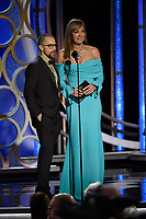 Sam Rockwell and Allison Janney present at the 76th Annual Golden Globe Awards at the Beverly Hilton in Beverly Hills, CA on Sunday, January 6, 2019.<br /> *Editorial Use Only*<br /> CAP/PLF/HFPA<br /> Image supplied by Capital Pictures