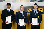 Boys Soccer finalists Darryn Ah Kuoi, Jacob Mathews & Ian Hogg. ASB College Sport Young Sportperson of the Year Awards 2007 held at Eden Park on November 15th, 2007.