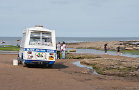 Made on the Farm Ice cream van at Robin Hoods Bay, North Yorkshire.