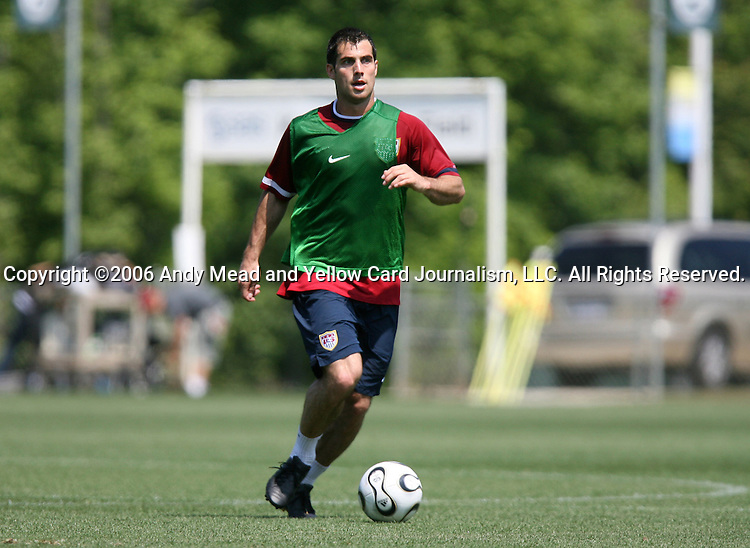 Carlos Bocanegra on Wednesday, May 17th, 2006 at SAS Soccer Park in Cary, North Carolina. The United States Men's National Soccer Team held a training session as part of their preparations for the upcoming 2006 FIFA World Cup Finals being held in Germany.