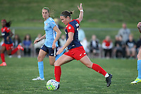 Piscataway, NJ - Sunday April 24, 2016: Washington Spirit midfielder Christine Nairn (7). The Washington Spirit defeated Sky Blue FC 2-1 during a National Women's Soccer League (NWSL) match at Yurcak Field.