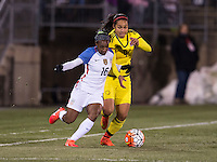East Hartford, CT - April 6, 2016: The USWNT defeated Colombia 7-0 during their international friendly at Pratt & Whitney Stadium.