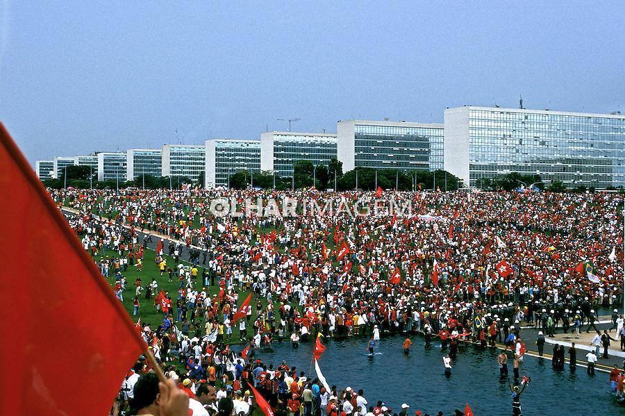 Dia da posse do Presidente Lula em Brasília. 2003. Foto de Daniel Cymbalista..