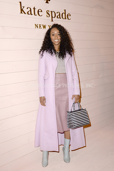 www.acepixs.com<br /> February 9, 2018  New York City<br /> <br /> Shiona Turini attending the Kate Spade presentation, New York Fashion Week, on February 9, 2018 in New York City.<br /> <br /> Credit: Kristin Callahan/ACE Pictures<br /> <br /> <br /> Tel: 646 769 0430<br /> Email: info@acepixs.com