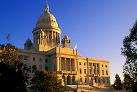 State Capitol, Providence, State House, Rhode Island, RI, The Rhode Island State House in the Capital City of Providence in the autumn.