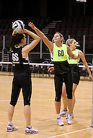 19.10.2016 Silver Ferns Storm Purvis in action during the Silver Ferns Training in Invercargill. Mandatory Photo Credit ©Michael Bradley.