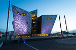 The exterior of the Titanic Museum in Belfast, Northern Ireland