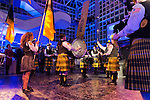 "Feb. 27, 2013 - Garden City, New York, U.S. - St. Anthony's HS ""Celtic Friars"" Pipe Band, from South Huntington, performed during the 10th Annual Cradle of Aviation Museum Air & Space Gala, celebrating the 40th Anniversary of Apollo 17."