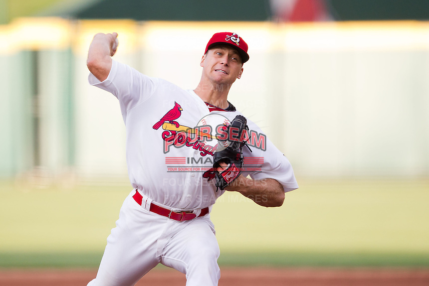 Trevor Rosenthal (44) of the Springfield Cardinals delivers a pitch during a game against the Arkansas Travelers at Hammons Field on June 13, 2012 in Springfield, Missouri. (David Welker/Four Seam Images).