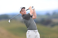 Connor Purcell (Portmarnock) on the 8th tee during the 1/4 Finals of the AIG Irish Close Championship at the European Club, Brittas Bay, Wicklow, Ireland on Monday 6th August 2018.<br /> Picture: Thos Caffrey / Golffile<br /> <br /> All photo usage must carry mandatory copyright credit (&copy; Golffile | Thos Caffrey)