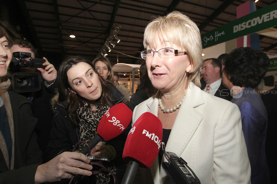 NO FEE PICTURES.28/1/11 Minister Mary Hanafin at the launch of the Holiday World Show at the RDS, Dublin, which runs from Friday 28th untill Sunday 30th January. Picture: Arthur Carron/Collins