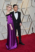 LOS ANGELES, CA. February 24, 2019: Rami Malek &amp; Lucy Boynton at the 91st Academy Awards at the Dolby Theatre.<br /> Picture: Paul Smith/Featureflash