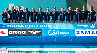 Team Italy <br /> ITA (white cap) -  CAN (blue cap)<br /> Water Polo<br /> Day03  16/07/2017 <br /> XVII FINA World Championships Aquatics<br /> Alfred Hajos Complex Margaret Island  <br /> Budapest Hungary July 15th - 30th 2017 <br /> Photo @ Deepbluemedia/Insidefoto