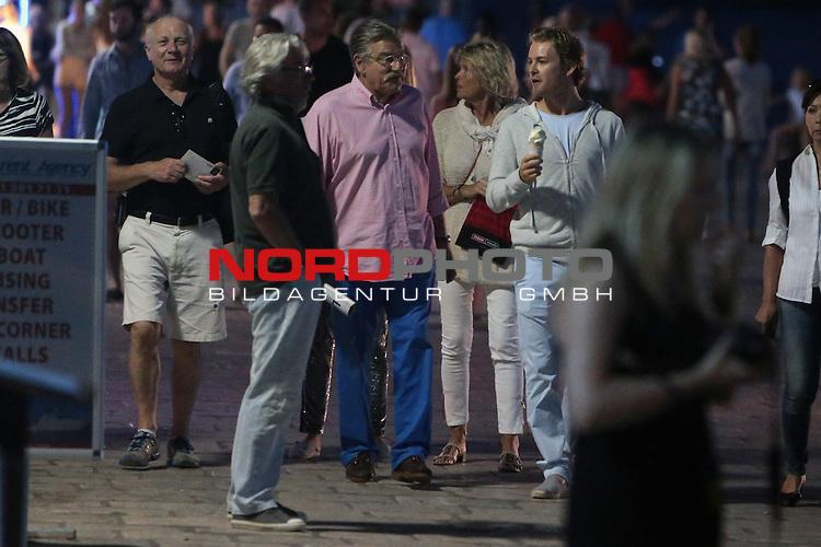 31.08.2013., Hvar,Croatia  - Formula 1 driver Nico Rosberg with his girlfriend  Vivian Sibold and friends visited Hvar <br /> Photo: Dalibor Urukalovic/PIXSELL