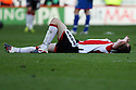 Dejected Sheffield United player at the final whistle. - Sheffield United v Stevenage - npower League 1 - Bramall Lane, Sheffield  - 28th April, 2012. © Kevin Coleman 2012