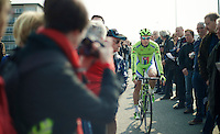 Peter Sagan (SVK/Cannondale) making his way through the crowd before the start<br /> <br /> 57th E3 Harelbeke 2014