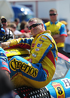Oct 4, 2008; Talladega, AL, USA; NASCAR Sprint Cup Series driver Bobby Labonte during qualifying for the Amp Energy 500 at the Talladega Superspeedway. Mandatory Credit: Mark J. Rebilas-