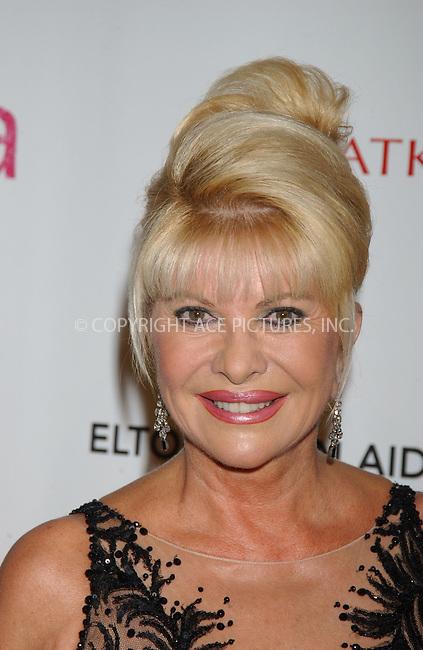 WWW.ACEPIXS.COM . . . . . ....October 3rd, 2006, New York City. ....Ivana Trump attends the Elton John AIDS Foundation's Fifth Annual Benefit 'An Enduring Vision'.....Please byline: KRISTIN CALLAHAN - ACEPIXS.COM.. . . . . . ..Ace Pictures, Inc:  ..(212) 243-8787 or (646) 769 0430..e-mail: info@acepixs.com..web: http://www.acepixs.com