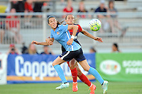 Boyds, MD - Saturday June 25, 2016: Kelley O'Hara, Shelina Zadorsky during a United States National Women's Soccer League (NWSL) match between the Washington Spirit and Sky Blue FC at Maureen Hendricks Field, Maryland SoccerPlex.